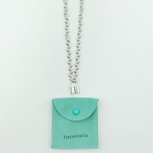 Tiffany & Co Necklace Rolo Link With Padlock